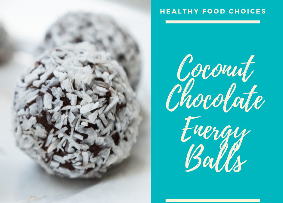 Chocolate Coconut Energy Balls with Dates and Hazelnuts